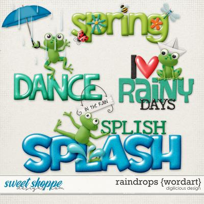 Raindrops {Wordart} by Digilicious Design