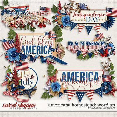 Americana Homestead: Word Art by Meagan's Creations