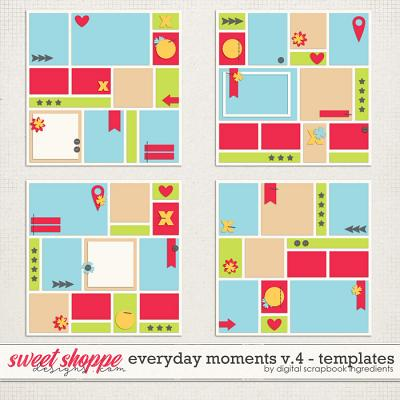 Everyday Moments Templates Vol.4 by Digital Scrapbook Ingredients