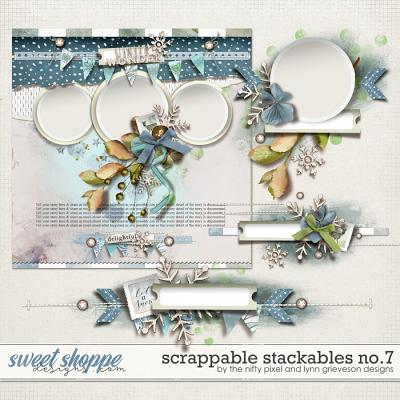 SCRAPPABLE STACKABLES No.7 | by The Nifty Pixel & Lynn Grieveson Designs