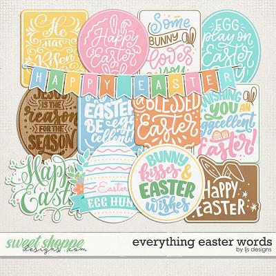 Everything Easter Words by LJS Designs