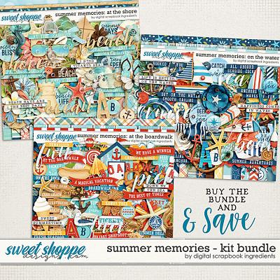 Summer Memories Kit Bundle by Digital Scrapbook Ingredients