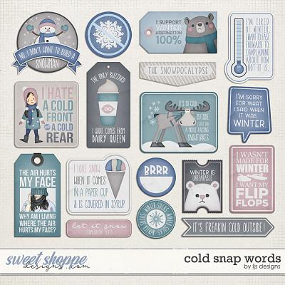 Cold Snap Words by LJS Designs