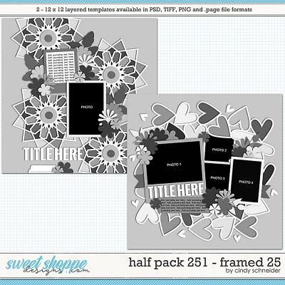 Cindy's Layered Templates - Half Pack 251: Framed 25 by Cindy Schneider