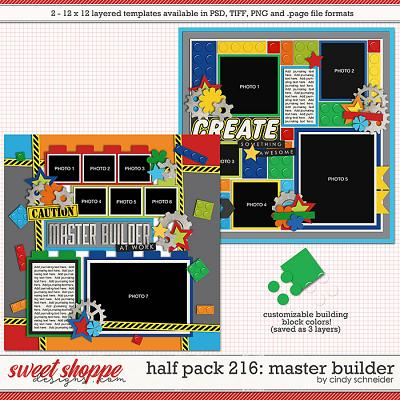 Cindy's Layered Templates - Half Pack 216: Master Builder by Cindy Schneider