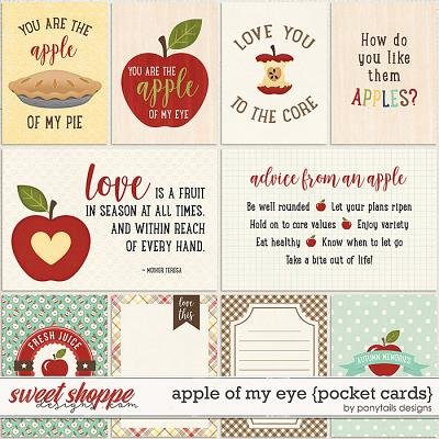 Apple of My Eye Pocket Cards by Ponytails