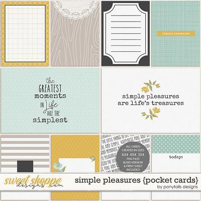 Simple Pleasures Pocket Cards by Ponytails