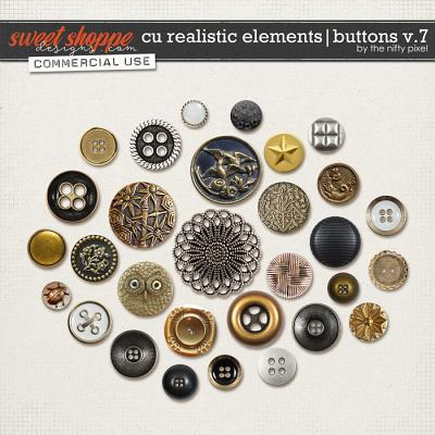 CU REALISTIC ELEMENTS | BUTTONS V.7 by The Nifty Pixel