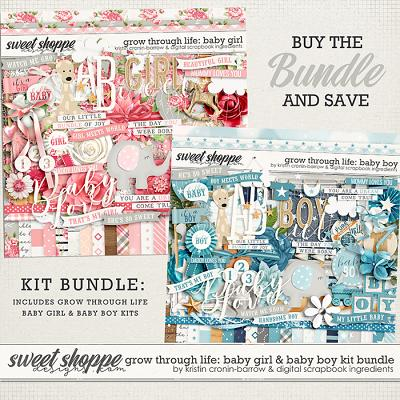 Grow Through Life - Baby Boy & Girl Kit Bundle by Kristin Cronin-Barrow & Digital Scrapbook Ingredients
