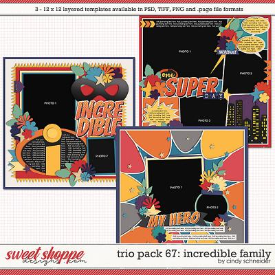 Cindy's Layered Templates - Trio Pack 67: Incredible Family by Cindy Schneider