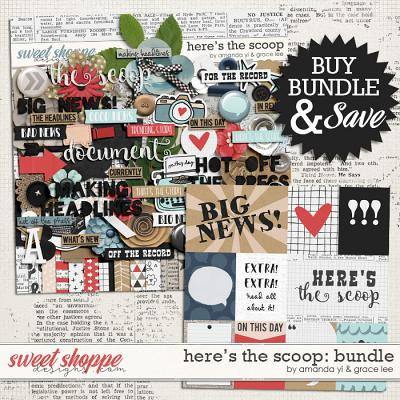 Here's The Scoop: Bundle by Amanda Yi and Grace Lee