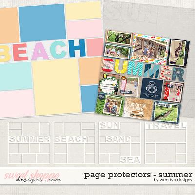 Page protectors: Summer by WendyP Designs