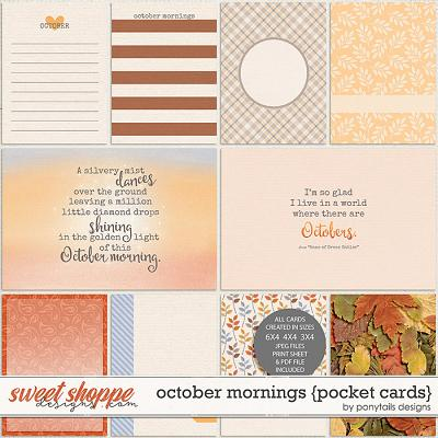 October Mornings Pocket Cards by Ponytails