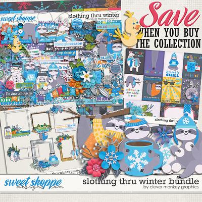 Slothing thru Winter Bundle by Clever Monkey Graphics