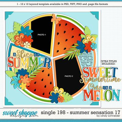 Cindy's Layered Templates - Single 198: Summer Sensation 17 by Cindy Schneider