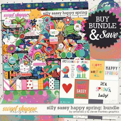 Silly Sassy Happy Spring Bundle by Clever Monkey Graphics & Amanda Yi