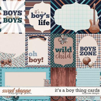 Its a Boy Thing Cards by JoCee Designs