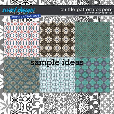 CU Tile Pattern Papers by Clever Monkey Graphics