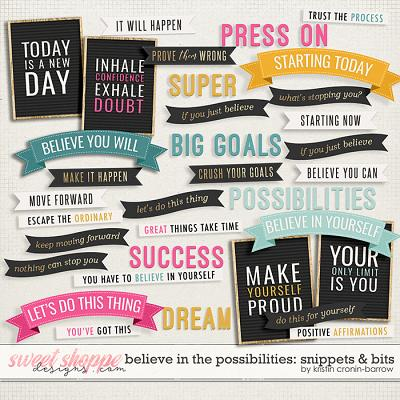 Believe in the Possibilities: Snippets and Bits by Kristin Cronin-Barrow