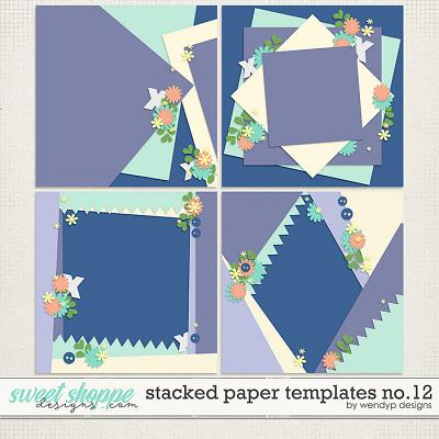 Stacked paper templates no.12 by WendyP Designs