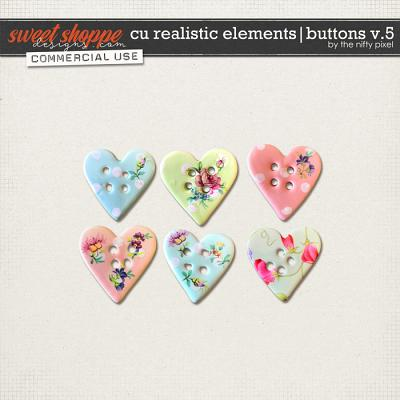 CU REALISTIC ELEMENTS | BUTTONS V.5 by The Nifty Pixel