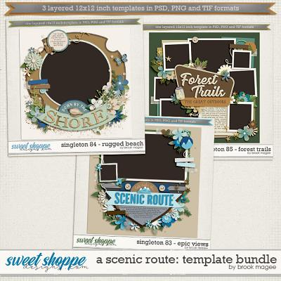 Brook's Templates - A Scenic Route: Template Bundle by Brook Magee