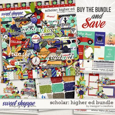 Scholar: Higher Ed Collection Bundle by Meagan's Creations