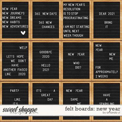 Felt boards: New Year by Amanda Yi