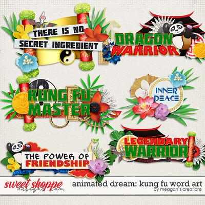 Animated Dream: Kung Fu Word Art by Meagan's Creations