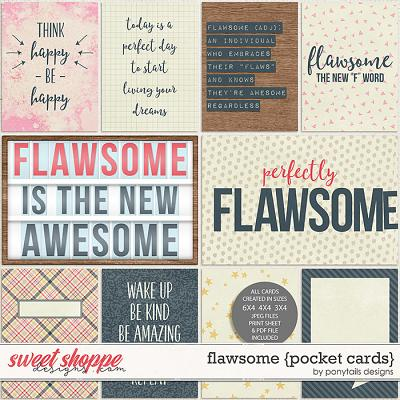 Flawsome Pocket Cards by Ponytails