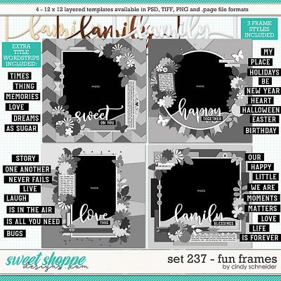 Cindy's Layered Templates - Set 237: Fun Frames by Cindy Schneider