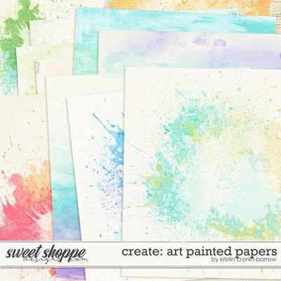 Create: Art Painted Papers by Kristin Cronin-Barrow