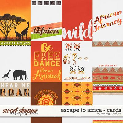 Escape to Africa - cards by WendyP Designs