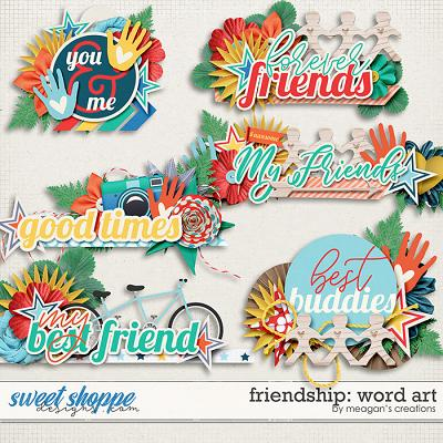 Friendship Word Art by Meagan's Creations