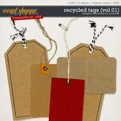 Recycled Tags {Vol 01} by Christine Mortimer