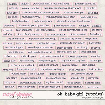 Oh Baby Girl! Wordys by Ponytails