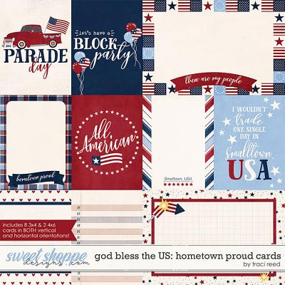 God Bless The US: Hometown Proud Cards by Traci Reed