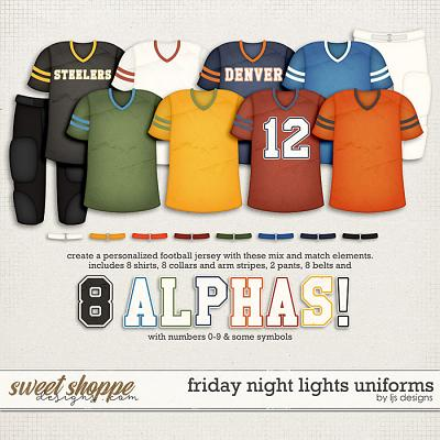 Friday Night Lights Uniforms by LJS Designs