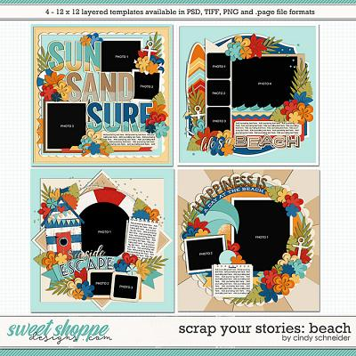 Cindy's Layered Templates - Scrap Your Stories: Beach by Cindy Schneider