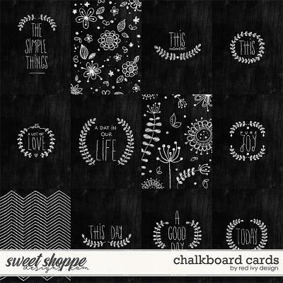 Chalkboard Cards by Red Ivy Design