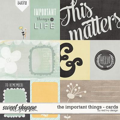 The Important Things - Cards