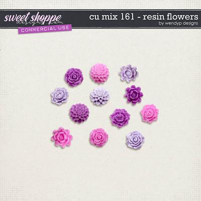 CU Mix 161 - Resin flowers by WendyP Designs