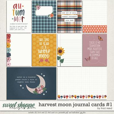 Harvest Moon Journal Cards #1 by Traci Reed