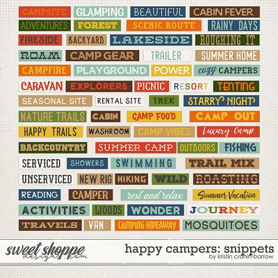 Happy Campers: Snippets by Kristin Cronin-Barrow