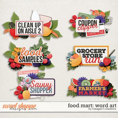 Food Mart: Word Art by Meagan's Creations