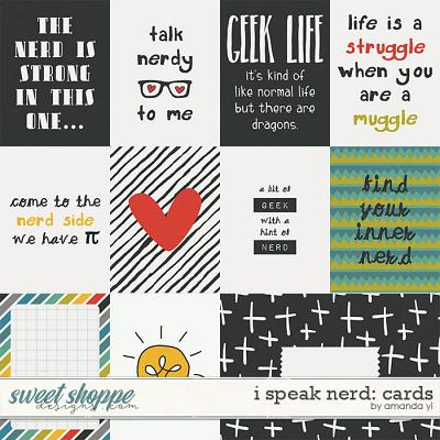 I Speak Nerd: Cards by Amanda Yi