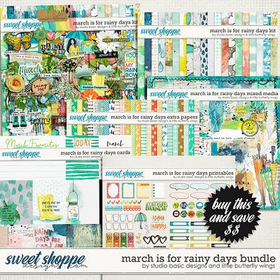 March Is For Rainy Days Bundle by Studio Basic & Little Butterfly Wings