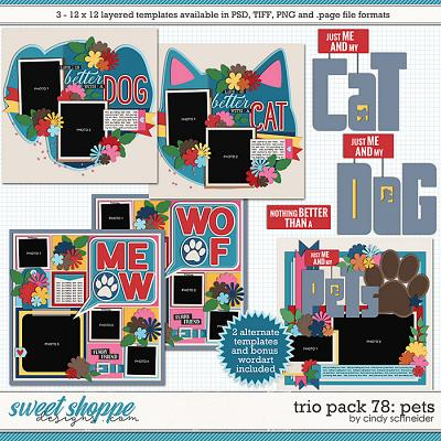 Cindy's Layered Templates - Trio Pack 78: Pets by Cindy Schneider