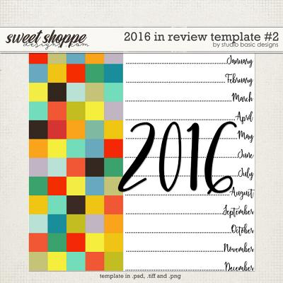 2016 In Review Template #2 by Studio Basic