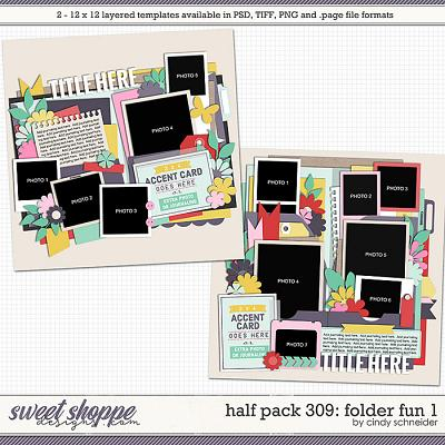 Cindy's Layered Templates - Half Pack 309: Folder Fun 1 by Cindy Schneider